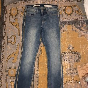 Anthropologie pilero and letter press jeans